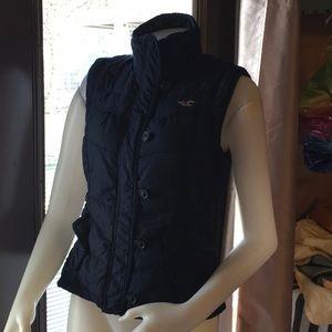 Hollister quilted vest feather sz large jr fit m